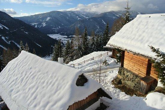Almdorf Seinerzeit - World Peace Eco Resort: Blick aus der Hütte