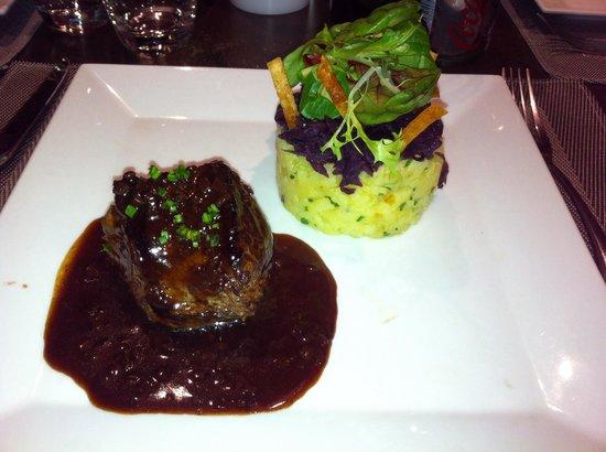 O Gout du Jour : Rumsteck accompagné sa sauce et ses légumes!! Juste sublime!!!