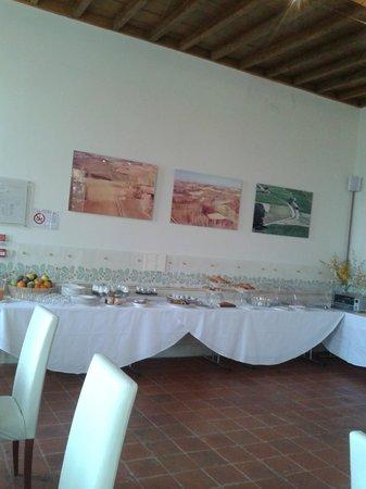 Rocca Civalieri: sala colazione