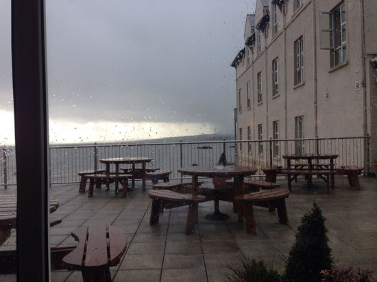 Redcastle Hotel: View from our lunch table
