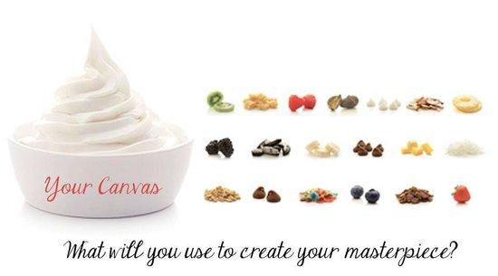 Yog-inn Frozen Yogurt & Master Waffles: Your Yogurt is your Canvas ~ You add & design the rest as you wish