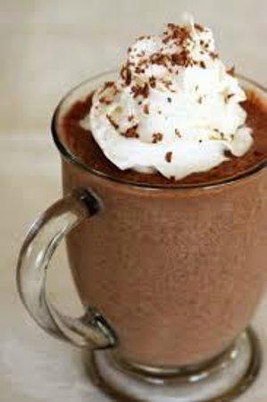 Yog-inn Frozen Yogurt & Master Waffles: A Hot Chocolate with Santigi for the cooler Cretan days.