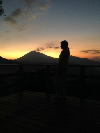 "San Gregorio Hotel and Spa : Pacaya volcano sunset - from the ""mirador""."