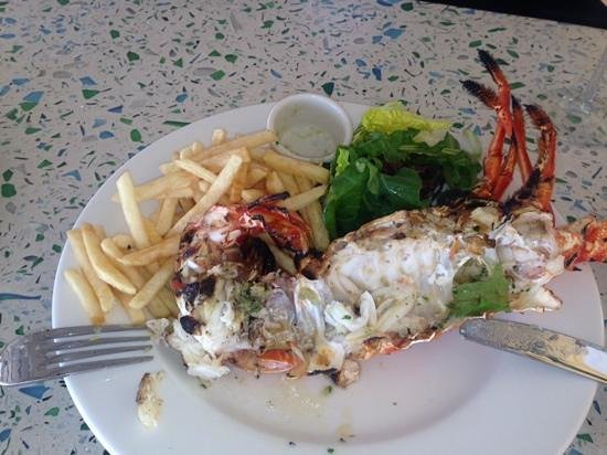 The Custard Apple : lobster and chips!