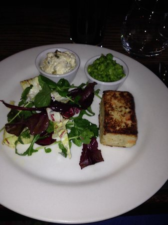 The Hardwick: Salmon risotto cake - delicious