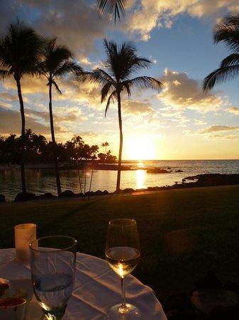 Fairmont Orchid, Hawaii : Dinner mit Sonnenuntergang