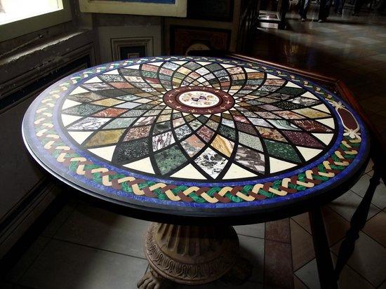 Vatikanische Museen (Musei Vaticani): Mesa com tampo de mosaico