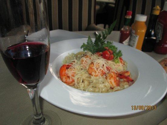 Manyalee STK House: Pasta con camarones