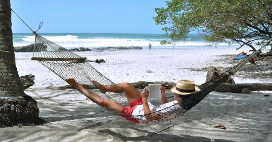 Hotel Tropico Latino: Sector de hamacas frente a playa...puro relax