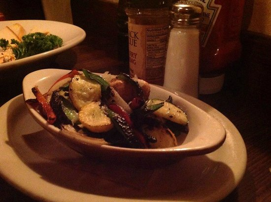Jack Stack Barbecue - Freight House: Fire-seared vegetables.