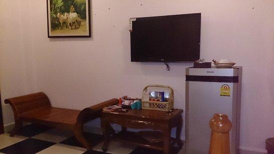 Delux Villa: Fridge & TV