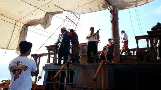 Marigalante - Mexico on Board Cruise: Buen espectaculo con efectos y musica de fondo, recomendable para los niños.