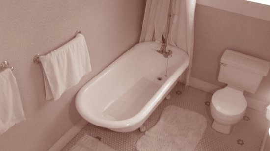 Hotel Majestic : Clawfoot tub from a higher angle