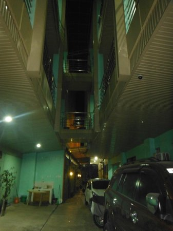 Villa Lolita Apartelle : private parking/walkway to frontdesk and main street
