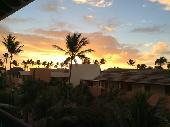 Now Larimar Punta Cana : Sunset from our balcony