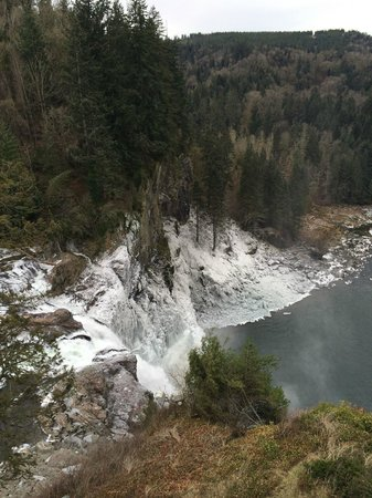 Salish Lodge & Spa: View from Balcolny is directly above falls