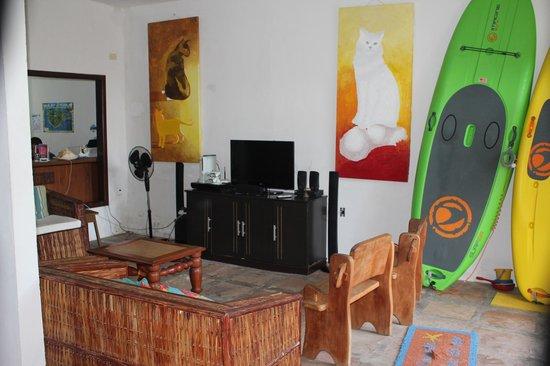 Pousada Estrela do Mar: Sala de Estar, con TV Satelital y XBox
