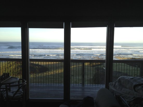 The SeaQuest Estate: From our room in the morning - edge of our bed on the right. (that's our private deck as well)