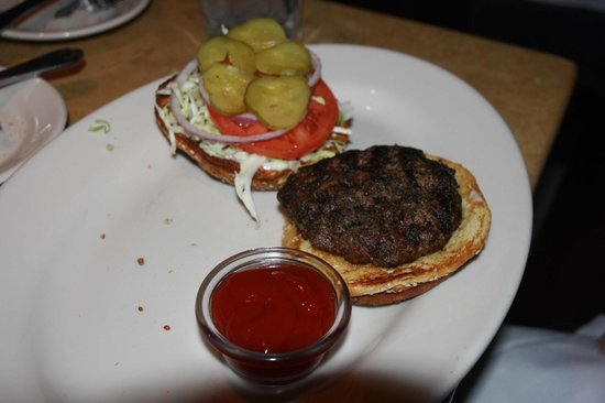 The Cheesecake Factory: Dry burger