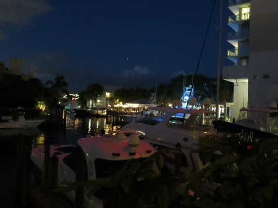 Hilton Fort Lauderdale Marina: view from balcony