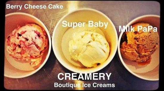 Creamery Boutique Ice Creams: Creamery Original Flavors