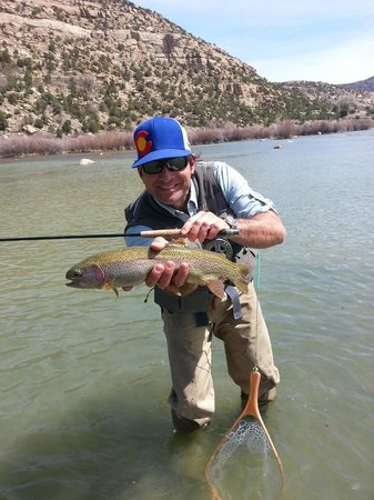 Nice rainbow on the juan picture of high country for San juan fly fishing