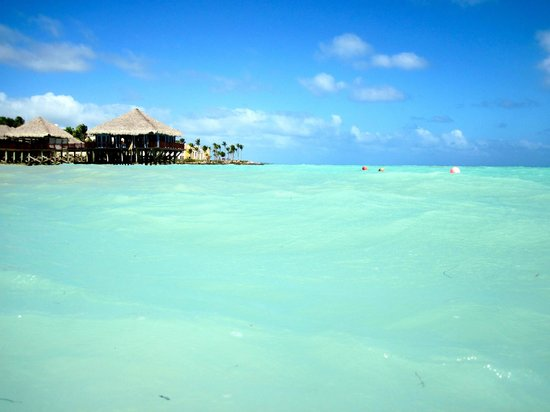 Sanctuary Cap Cana by Playa Hotels & Resorts : Looking at Blue Marlin from beach.
