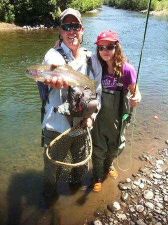 High Country Fishing Charters - Tours: One of the Jones family with a big bow.