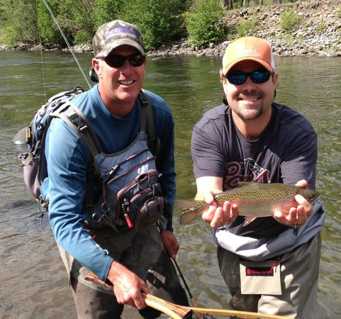 High Country Fishing Charters - Tours: Another fish to the net.