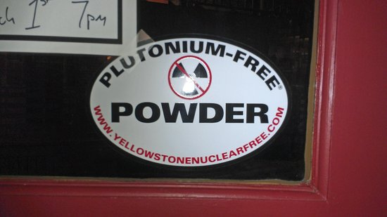 Old Schoolhouse Brewery: Pu Free Powder Sticker-circa the Z Plant years?