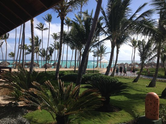 Majestic Elegance Punta Cana: view from buffet/rodeo grill/washrooms