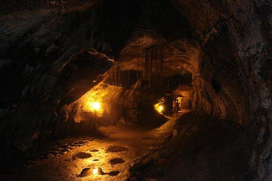Nahuku - Thurston Lava Tube: ラバチューブ内