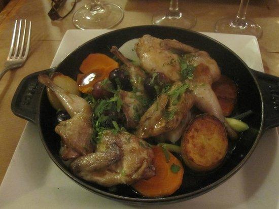 Le Petit Pontoise: Roast game hen