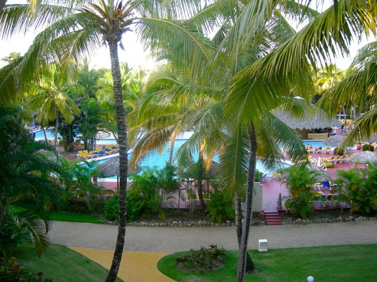 Catalonia Bavaro Beach, Casino & Golf Resort: View of the pool from our room