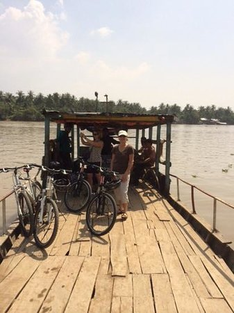 Vietnam Backroads: ferry across the water.