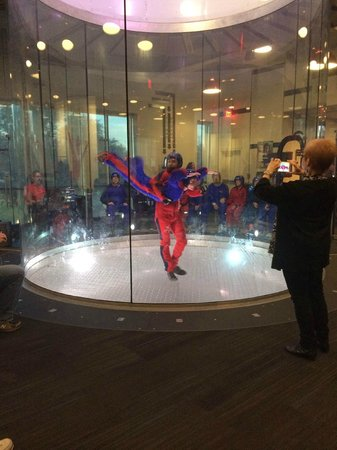 iFLY Austin Indoor Skydiving: the tunel