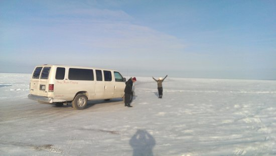 Picante Cafe : Picture of us on the frozen lake!!