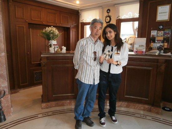 Emine Sultan Hotel & Suites : 親切なスタッフと