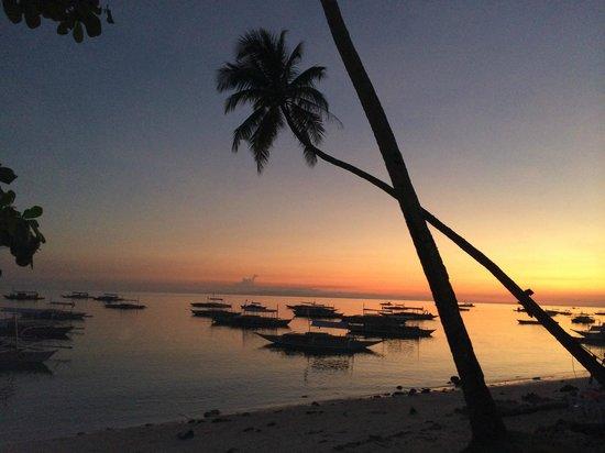 Bluewater Panglao Beach Resort: View on the beach