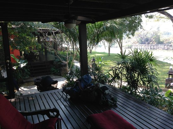 Baan Nam Ping Riverside Village: from our patio