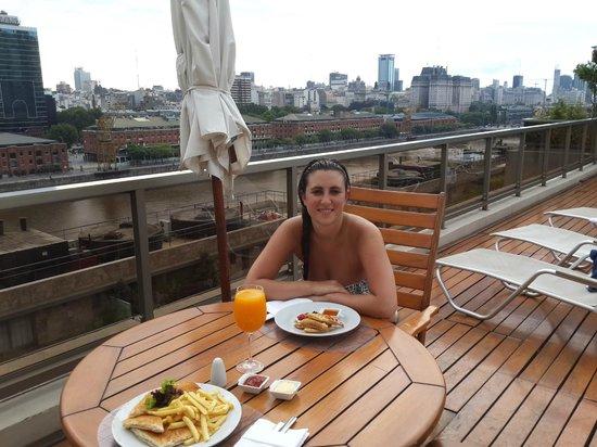 Hotel Madero: Merendando en el Spa & Health Club
