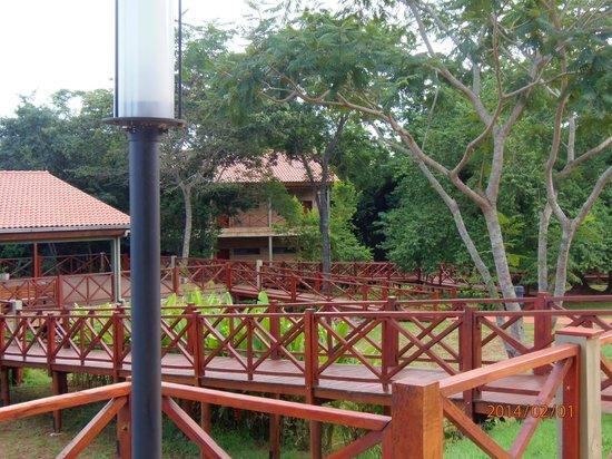 Village Cataratas: Pasillos del hotel.