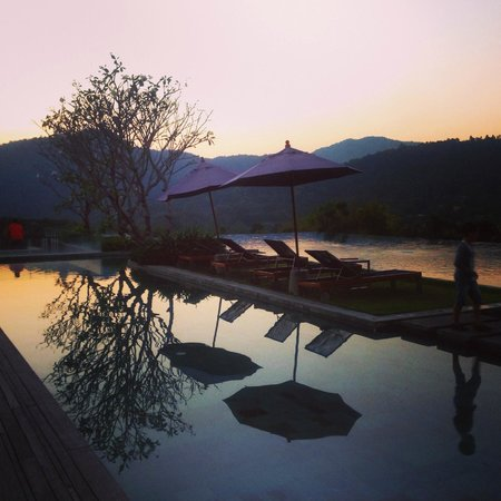 Veranda High Resort Chiang Mai - MGallery Collection: Main pool area at dusk