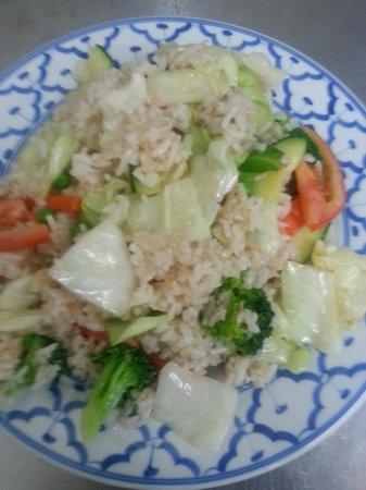 JK's Thai Buffet Restaurant.: Veggies fried rice