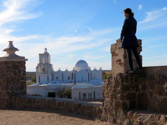 Mission San Xavier del Bac: Overlooking San Xavier del Bac