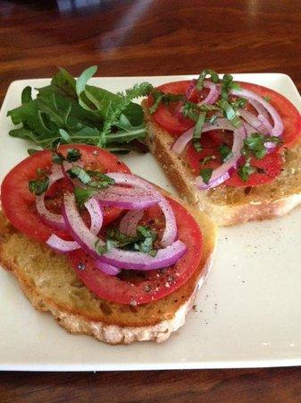 Meridian Cafe toasted bruschetta