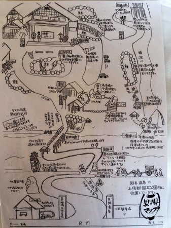 Kaikake Onsen: 貝掛温泉マップ