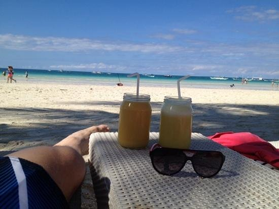 Kasbah: nice beach and drinks glas. :-)