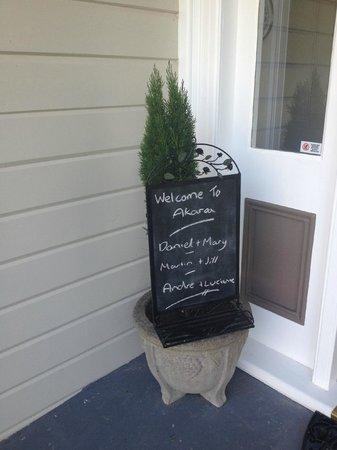 Banks House Akaroa: Nice welcoming touch