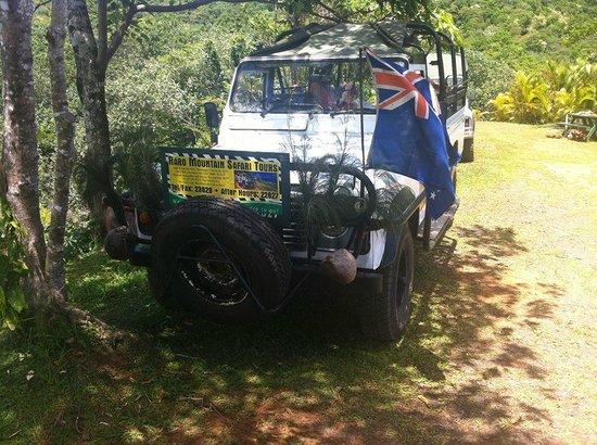Raro Mountain Safari Tour: The tour vehicle!